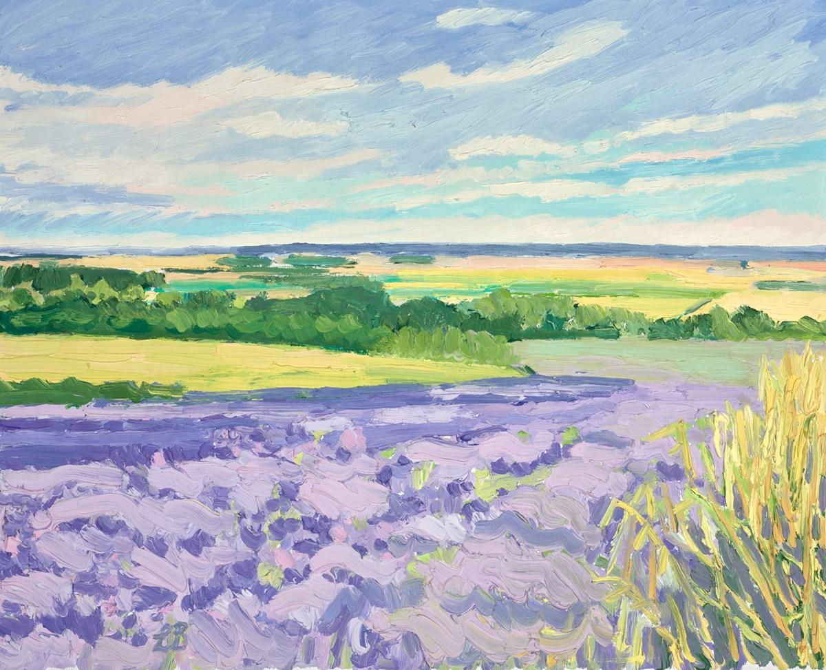 Waves of Purple Fields